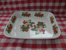 """Portmeirion """" Strawberries"""" 12 1/2"""" by 10"""" Rectangle Casserole Baking Dish"""
