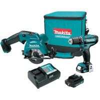 Makita 12V Max CXT Lithium Ion Cordless Circular Saw & Drill Driver Combo Kit