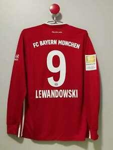 Bayern Munich Long Sleeves Home Vintage Soccer Jersey #9 LEWANDOWSKI Size [S]