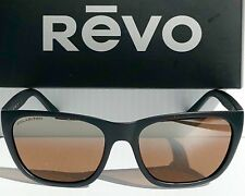 e9b3eb2b868 NEW  REVO GRAND SIXTIES Matte Black POLARIZED Bronze Glass Lens Sunglass  4052 01