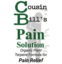 Cousin Bills Pain Inflammation Relief Terpenes Solution 30ml Tincture Natural