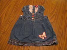"""""""Pumpkin Patch"""" Girls Blue Denim Dress Size 3 - A591"""