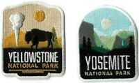 Yosemite & Yellowstone National Park Patches Embroidered Iron Sew On Patch 2 Lot
