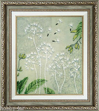 EMBROIDERY KIT EMBELLISHED STITCH KIT CRYSTAL ART LIGHT BREATH FLOWERS BT-517