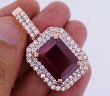 3.50 Carat Diamonds & 20 Ct Red Gemstone Pendant Rose Gold Valentineday Spl.Sale