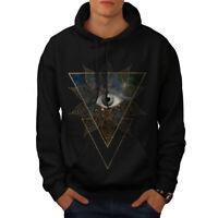 Wellcoda Triangle Eye Cool Mens Hoodie, Triangle Casual Hooded Sweatshirt