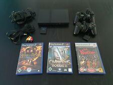 Playstation 2 mit 2 Controller (teils defekt!), Memory Card, 3 Spiele