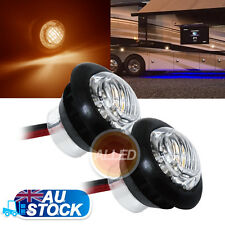 2XAmber 12V LEDTurning Signal Indicator Light Trailer Motorcycle Clearance Lamp