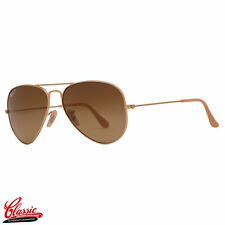 RAY-BAN AVIATOR SUNGLASSES RB3025 112/M2 Matte Gold 58mm/ Brown Grad POL