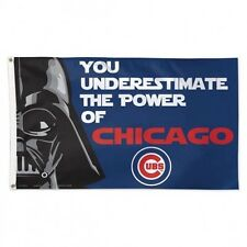 Chicago Cubs ~ Star Wars Darth Vader Large 3x5 Foot Flagpole Flag ~ New!
