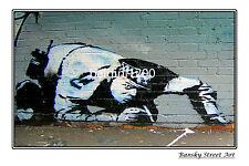 "BANKSY STREET ART ""POLICE DRUGY"" - LARGE PHOTO LOOKS GREAT FRAMED -"