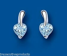 Blue Topaz Earrings Silver Stud Solid Sterling Silver Studs Natural Topaz