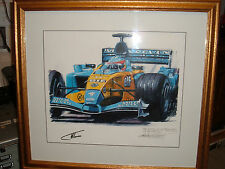 Nicholas Watts Original Oil of Alonso Winning his 1st GP dans Hungary signed