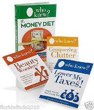 WHO Knew? The Money Diet 4-piece Complete Money-saving Book Set Bruce Lubin