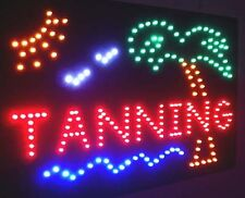 NEW PLAM TANNING  and SUN LED neon Sign
