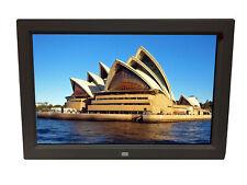 "12"" Digital Photo Frame Multimedia Player Usb Card Reader Jpeg Mp3 Avi White"