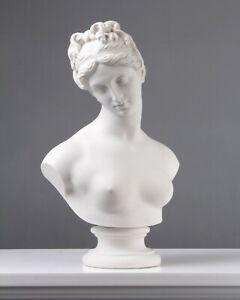 Venus Bust Statue - Venus with the Apple by Thorvaldsen (13.8 inch / 35 cm)