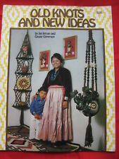 Vintage 1976 Old Knots & New Ideas Pattern Booklet Lamp Table Diaper Hanger