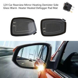 Car Rearview Mirror Heating Demister Side Glass Warm Heated Defogger Pad Mat Kit