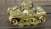 Vintage Tinplate Army GAMA Tank D.R.G.M Clockwork Western Germany Military Toy