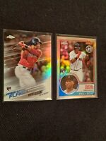 Lot of 2 w/ 2018 Chrome 1983 Topps Refractors Rafael Devers #83T-18 Rookie
