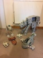 Vintage Star Wars Lot At-at Slave 1 Kenner 1980 1983 Original Vehicles Ships Etc
