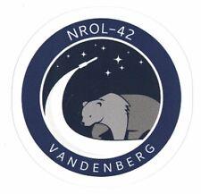 NROL-42 MISSION PATCH STICKER ~ American Recon Spy Satellite Vandenberg NSA NEW