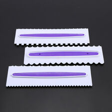 3x Smoother Pastry Icing Baking Comb Set Fondant Spatulas Cake Scraper  AU Stock