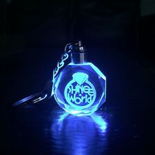 KPOP SHINEE Keychain SHINee Five World Tour LED Light Crystal Key Ring Fans Gift