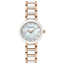 Bulova Diamonds Women's Two-Tone Ceramic and Stainless Steel 28mm Watch 98P160