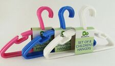 Clothes Hangers Kids Childrens Plastic Slotted Hangars 11 inches NEW Lot of 16