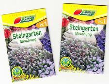 2 x Samen Steingarten - Mischung - bunte Blumen für den Steingarten ca 1 - 2 lfm