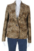 Pallas Womens Fanny Animal Print Blazer Jacket Brown Black Size EUR 34