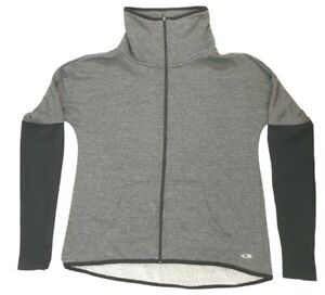 Champion Women's Size XS Full Zip Cowl Neck Long Sleeve With Thumb Holes