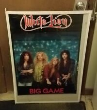 White Lion Poster New 1989 Rare Vintage Collectible Oop Live