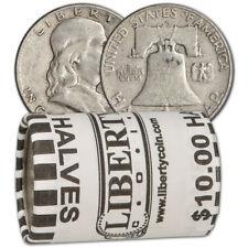 90% Silver Franklin Half Dollars - Roll of 20 - $10 Face Value