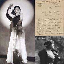 🌓 L.A.S. La chanteuse MARIE DUBAS écrit à la comédienne Berthe CERNY 4p 1933 #1
