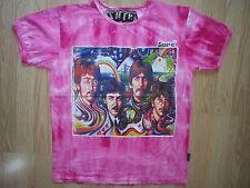 Men T shirt The Beatles short sleeve Cotton Sure Music Hippie Rock Love Flower L