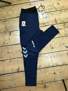 Middlesbrough FC Football Track Bottoms Navy Official Hummel size XL