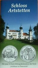 10  EURO  Silber Schloss Artstetten  2004 Österreich ,Stempelglanz  im Blister
