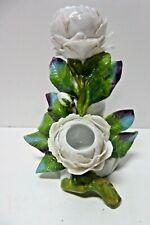 VINTAGE EBS ERNST BOHNE SOHNE CONTINENTAL PORCELAIN FLOWER STATUE