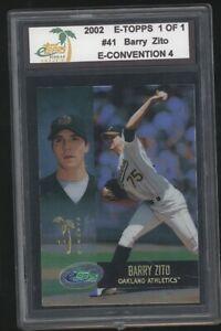 2002 E-Topps 1 of 1 BARRY ZITO True #1/1 E-Convention Athletics