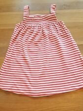 girls toddlers red and white stripped strappy dress 12-18 months F&F