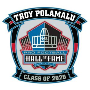 2020 Pro Football Hall of Fame Collectible Pin Troy Polamalu Pittsburgh Steelers