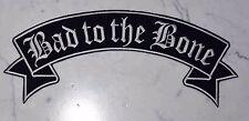 Bad to the Bone Rocker XL Top IRON ON PATCH Aufnäher Parche brodé patche toppa