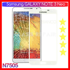VETRO GLASS Display Touch FRONTALE BIANCO WHITE SAMSUNG GALAXY Note 3 NEO N7505