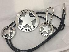 Texas Ranger Gift Set (Belt Buckle, Bolo and Key Ring)