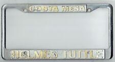 Costa Mesa California Holmes Tuttle Datsun Vintage Dealer License Plate Frame