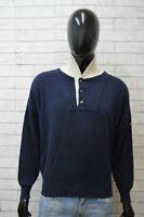 Hugo Boss Maglione Uomo Taglia XL Cardigan Maglia Pullover Sweater Man Felpa Blu