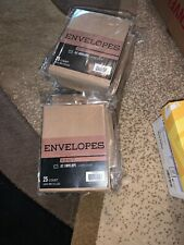 """17 Pack A2 Envelopes - 5.75"""" x 4.375"""" - Square Flap Each Pack 25 Count"""